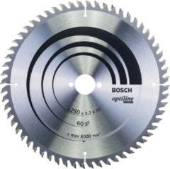 Bosch Professional accessoire Bosch - Cirkelzaagblad Optiline Wood 250 x 30 x 3,2 mm, 60