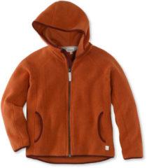 Hessnatur Kinder Fleece Jacke aus Bio-Baumwolle – orange – Größe 98/104