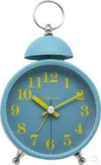 Blauwe NeXtime Single Bell Wekker Metaal/Glas 16 x 9,2 x 5,4 cm - Turquoise