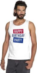 Toppers official merchandise Toppers - Wit Toppers Happy Birthday party 2019 officieel singlet/ mouwloos shirt heren - Officiele Toppers in concert merchandise 2XL