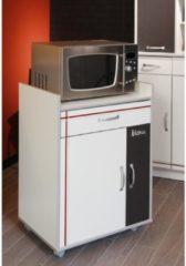 Küchen-/Mehrzweckschrank 'Bistrot 4' Weiß-Alu Parisot Weiß / Alu