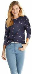 Blauwe Classic Basics shirt met print