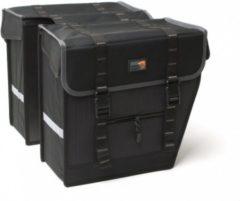 Grijze New Look New Looxs Superior Maxi - Dubbele Fietstas - 42 l - Black/ grey