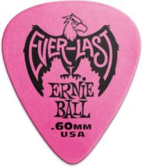 Dunlop Ernie Ball Plectrums - Everlast - Roze 0.60mm 6 stuks