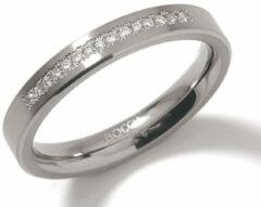 Boccia 0120-04 Ring Titanium-Diamant zilverkleurig 3,2 mm 15 * 0,075 crt Maat 54