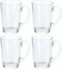 Transparante Merkloos / Sans marque Koffie & Theeglazen - 320 ml - 4 stuks