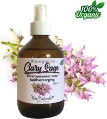 Scharlei Bloemen water 300 ml | Clary Sage Hydrolaat | 100% Puur | Biologisch | Roomspray | Bodyspray | Gezichtstonic | Huidverzorging | Pure Naturals