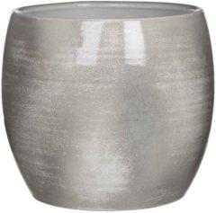Edelman Montfoort Mica Decorations lester ronde pot lichtgrijs maat in cm: 26 x 28 LICHTGRIJS