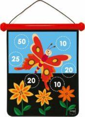 Scratch Active Play: MAGNETISCHE DARTS medium / Tuin 40x31cm, 2-zijdig bedrukt,