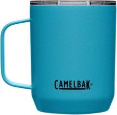 Zilveren CamelBak Camp Mug SST Vacuum Insulated - Isolatie Drinkbeker - 350 ml - Blauw (Larkspur)
