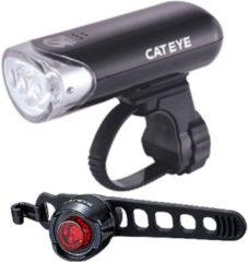Zwarte Cateye EL135 en Orb set (voor en achter) - Fietslampen (setjes)