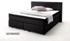 Boxspringbett 180 x 200 cm schwarz mit Wendematratze H2 H3 und Topper Sun Garden BX980