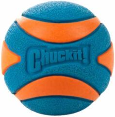Chuckit Ultra Squeaker Ball - Hondenspeelgoed - Ø6 cm Oranje Blauw Medium