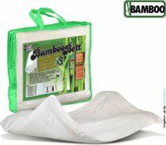Witte Bamboo Bett | Origineel zuiver bamboe zomerdekbed | Heerlijk koel en fris bamboe dekbed | Licht, soepel, absorberend, ventilerend zomer dekbed | Bamboe 240x220cm (Extra lang)