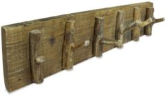 Bruine VidaXL Kapstok 60x15 cm massief gerecycled hout