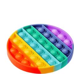 Merkloos / Sans marque Pop it Fidget Toy Regenboog - Bekend van TikTok - Rondje- Rainbow