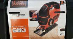 BLACK+DECKER Black + Decker KS801SEK5A-QS decoupeerzaag, 550 W, zaagdiepte, 5 mm metaal & 80 mm, hout, 5 messen, in gereedschapskist