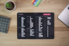 Zwarte Worksmarter Adobe XD Shortcut Mousepad - Normal - Windows