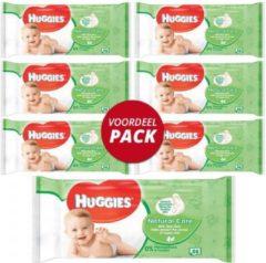 Apple Huggies Natural Care Babydoekjes - Voordeelverpakking 6 Stuks