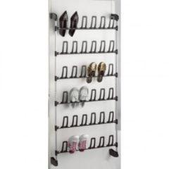 Zwarte COMPACTOR Deurhanger Schoenenrek Angela voor 18 paar Schoenen