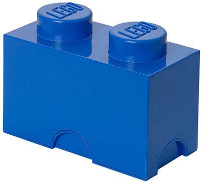 Afbeelding van Blauwe LEGO Opbergbox Brick 2 - Polypropyleen - 25x12,5x18 cm