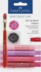 Faber Castell Gelatos aquarelkrijt Faber-Castell 4 kleuren rood