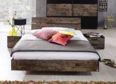 Rauch-PACKs Bett 180 x 200 cm mit Nako-Set schwarz/ Vintage-Optik braun RAUCH PACKS Sumatra