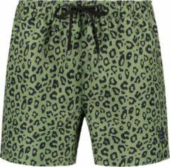 Son of a Beach panterprint heren zwembroek - print - licht groen - leeftijd 11 tot 12 jaar