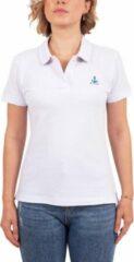 Witte Biggdesign AnemosS T-shirt met Crew neck   Zeilboot opdruk   Limited Edition Design   T-shirt met print   Korte mouw   Dames T-shirt   Zachte katoenen stof   Vrijetijdskleding   Casual T-shirt   Kleine maat