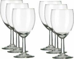 Transparante Merkloos / Sans marque 6x Luxe wijnglazen voor witte wijn 240 ml Gilde - 24 cl - Witte wijn glazen - Wijn drinken - Wijnglazen van glas