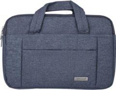 XLmobiel.nl 11-12- inch Laptoptas type schoudertas voor laptop en notebook (messenger tas), 11-12 inch voor o.a. HP, Dell, Asus, Acer, Medion, Toshiba, Lenovo, Macbook, Microsoft, Peaq etc., Grijze ,