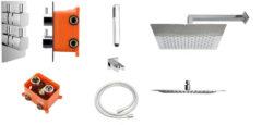Best Design One pack inbouw regendoucheset & Inb.box Piazza vierkant M 300x300 4006840