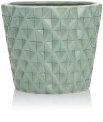 HSE24 Keramiktopf mit Struktur - Hellgrün