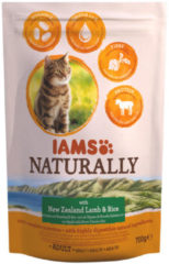 Iams Naturally Cat Adult Lam&Rijst - Kattenvoer - 700 g