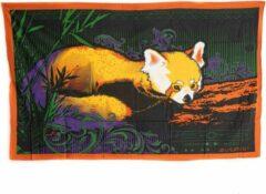 Spiru Authentiek Wandkleed Katoen met Rode Panda (215 x 135 cm)