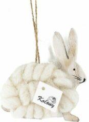 Gebroken-witte Kolony Decoratie konijn wit