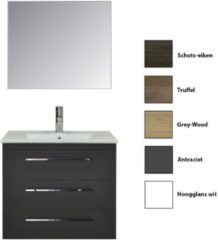 Badkamermeubelset Sanicare Q6 Drie Laden Chromen Greep 80 cm (alle kleuren, spiegel optioneel)