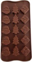 Rode Koozie.eu Kerst vorm Kerstman - Pakje - Kerstboom - Chocolade - Fondant - Mousse - IJs