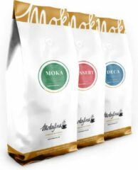 Mokafina variatiepakket koffiebonen - 3x500g - Mokka, Dessert, Deca