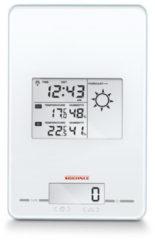 Witte Soehnle digitale keukenweegschaal, weerstation, radiografische klok, timer en wekker in een, Page Meteo Center