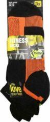 6-Pack Xtreme dunne lage Fitness Sportsokken in sportieve kleuren 122635 - Unisex - Maat 43-46