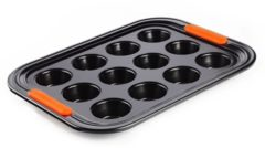 Zwarte Le Creuset Mini Muffin Bakvorm - 12 Mini Muffins