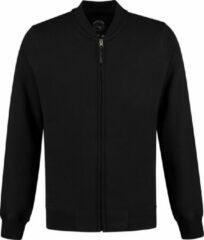Zwarte Lemon & Soda L&S Heavy Sweater Cardigan Unisex