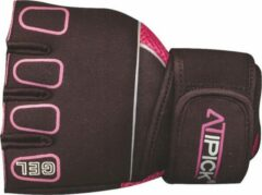 Bordeauxrode Atipick Mma Handschoenen Neopreen/mesh/nylon Bordeaux Maat L
