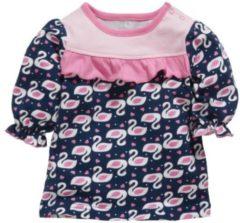 Marineblauwe Schnizler T-shirt 3/4 Mouwen Zwaan Meisjes Navy Maat 74