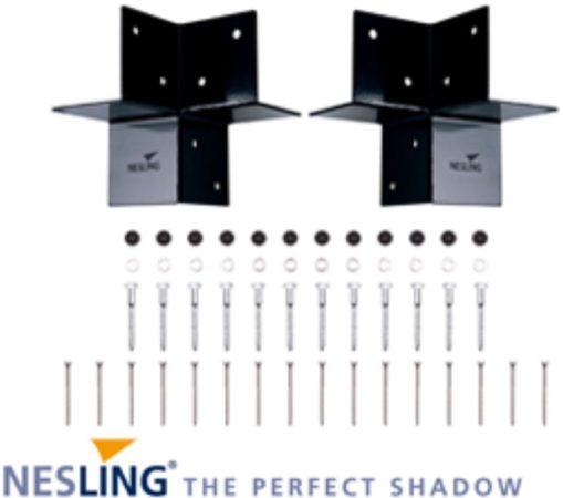 Afbeelding van Antraciet-grijze Nesling Pergola kit hoek element