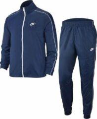Marineblauwe Nike Sportswear Woven Basic Heren Trainingspak - Midnight Navy/White - Maat M