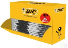 Balpen Bic Atlantis Classic zwart medium doos à 30+6 gratis