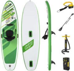 Groene Bestway Sup Board - Hydro Force - Freesoul Tech Convertible - 340 x 89 x 15 cm - Met Accessoires