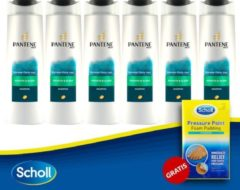Pantene Pro-V Smooth & Sleek Shampoo 6X250 ml + Scholl Pressure Point Foam Padding